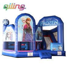 2017 bounce house/commercial frozen combo inflatable bouncy jumping castle sale with blower prices for children