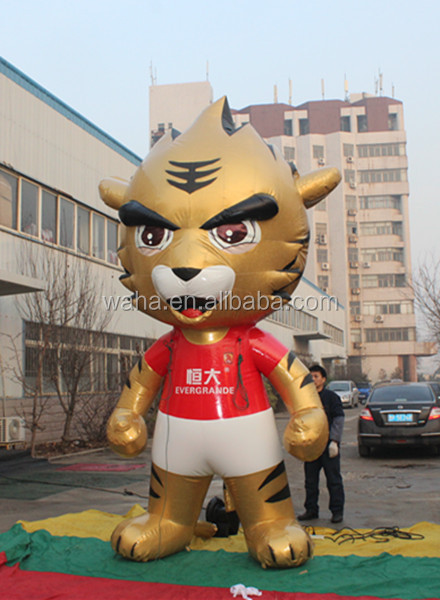 2015 new big stage decoration 3m inflatable cartoon tiger