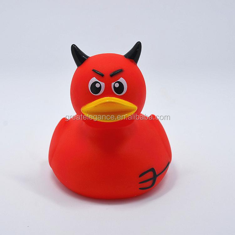 Cheap Custom Pvc Vinyl Floating Devil Plastic Rubber Bath Ducky Bath ...