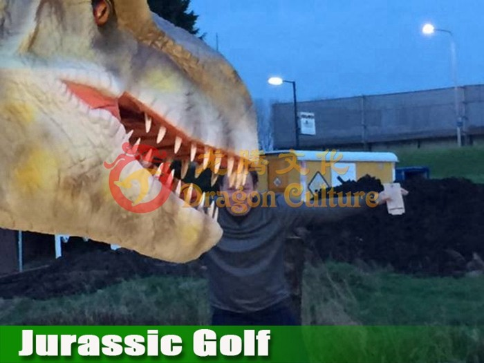 Electronic Dinosaur Model Moving in Jurassic Golf