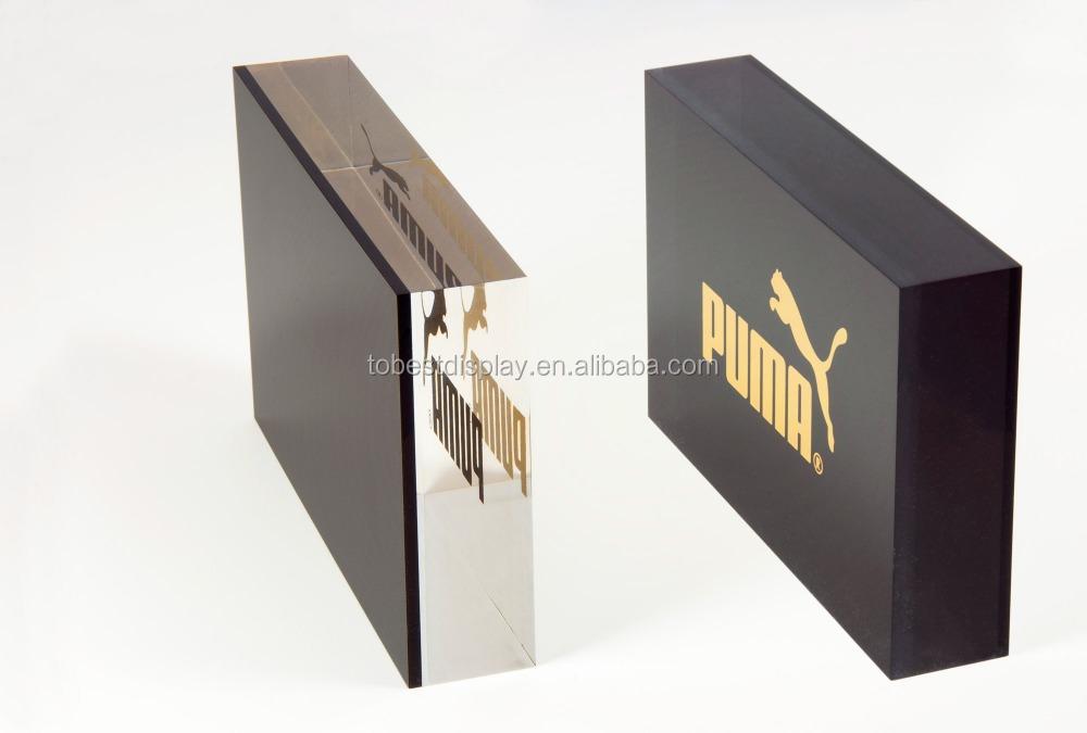 Wholesale High Quality Acrylic Block Plexiglass Block Logo