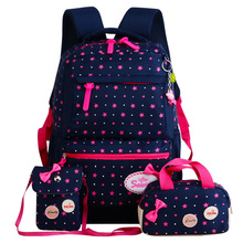 Hot Sell 3 개 Set 차 학생 Girls Backpack School Bag