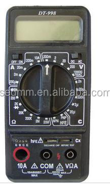 wide range high accuracy manual measurement DT-998 digital multimeter
