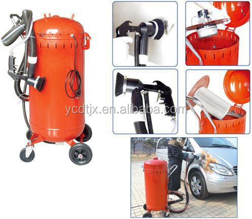 Vacuum portable sand blasting machine/dustless blast pot