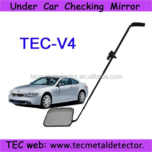 under vehicle view mirror,explosive detector with LED torch TEC-V4 under car inspection mirror