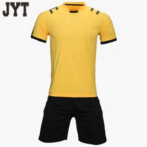 f89f1cb57 2018 new style 100% polyester wholesale yellow custom design your logo sublimation  printing soccer jersey