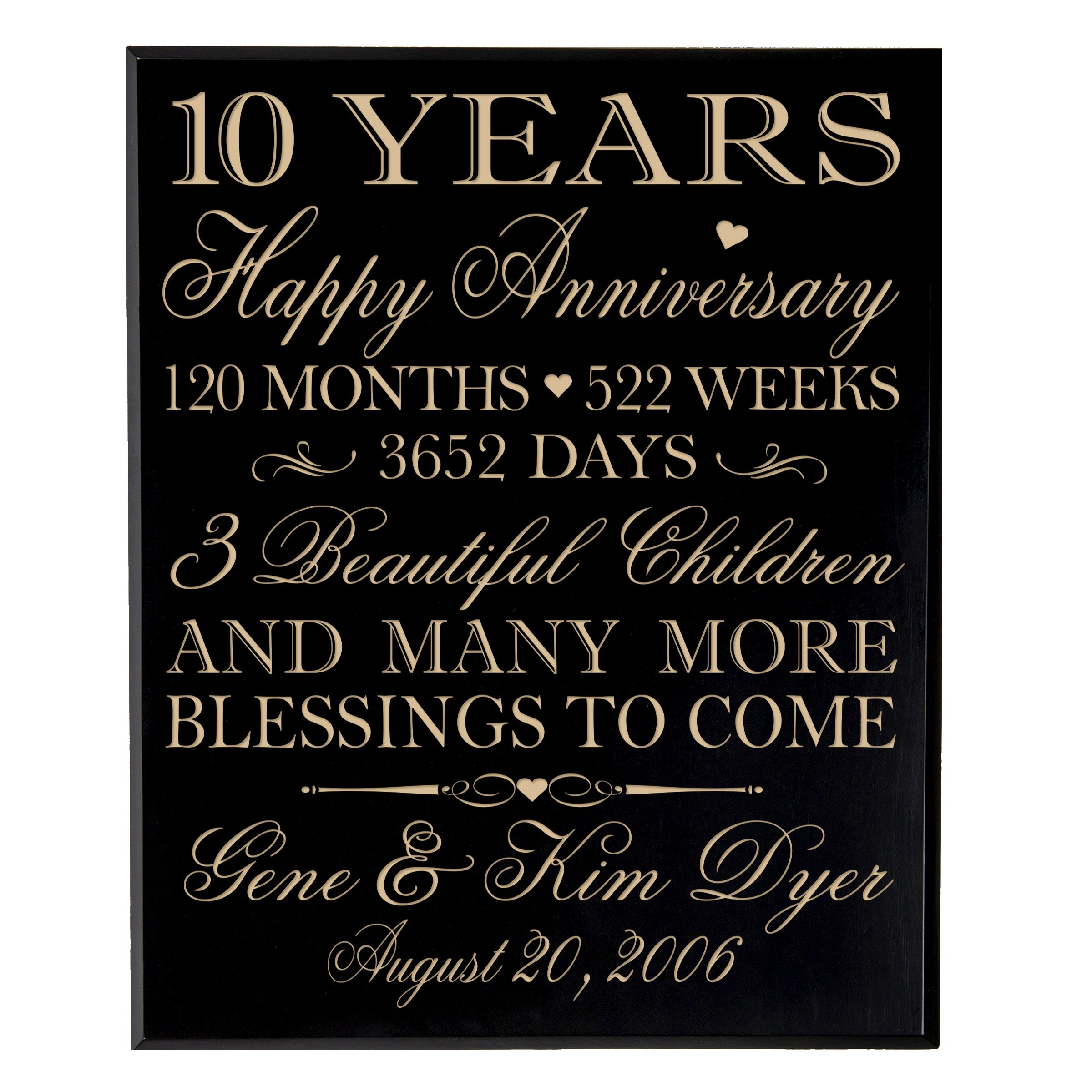 buy personalized 10 year anniversary wedding gifts ideas for couple