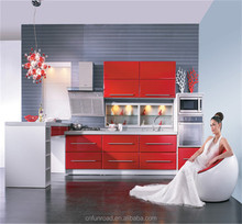 China red kitchen equipment home showcase design display showcase for house