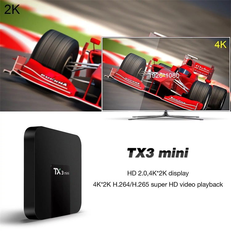 Hot sale stable quality Amlogic S905W android 7.1 tv box smart 4k android box tv