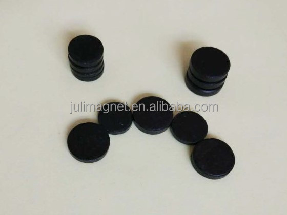Custom Round Shape High Performance Hard Ferrite Magnet