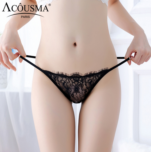 ACOUSMA hot sexy young girl sexy lingerie de renda calcinha string g