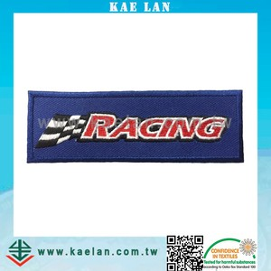 Racing car game embroidery patch