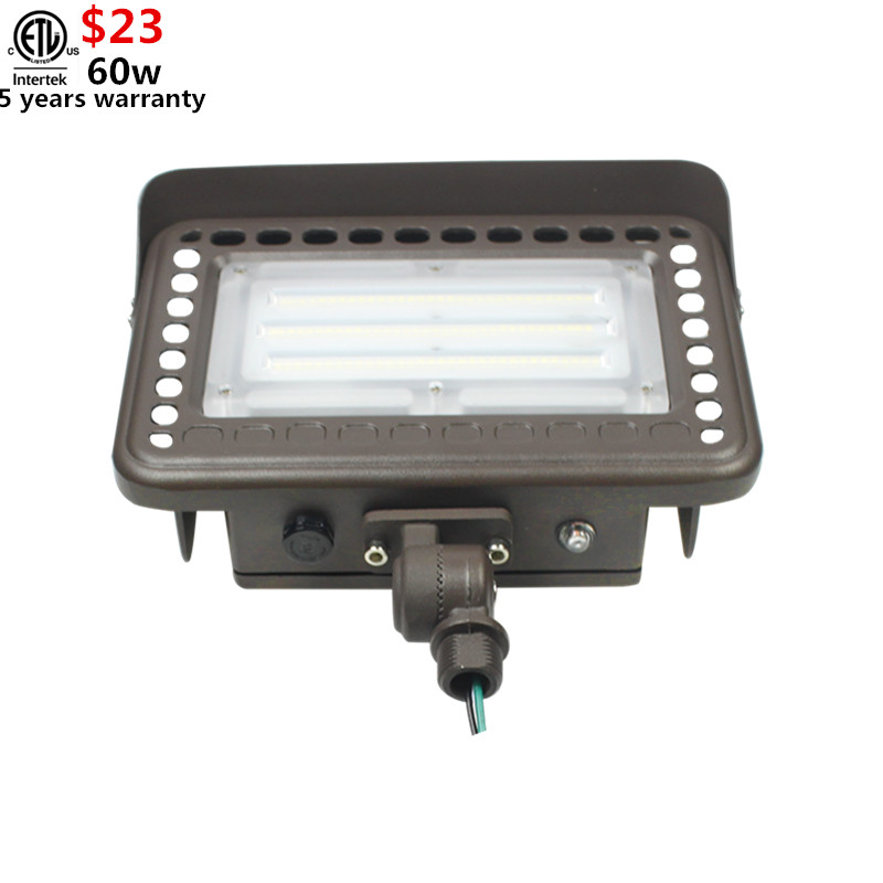 5 Years Warranty Etl Shenzhen 60w Led Flood Light Fixtures With Knuckle  Mount/conduit Style Flood Light 80w 100w 40w Daylight - Buy 60w Led Flood