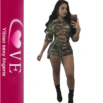 Fat Women Camo Print Half Sleeve 2 Piece Jumpsuit Shorts Set  sc 1 st  Alibaba Wholesale & Fat Women Camo Print Half Sleeve 2 Piece Jumpsuit Shorts Set - Buy ...