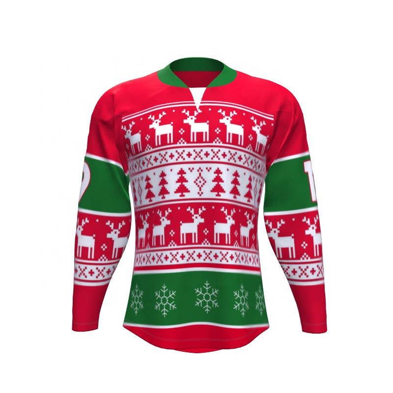 Christmas Jersey Design.Unique Embroidery Design Christmas Hockey Jerseys Buy Christmas Hockey Jerseys Embroidery Design Hockey Jersey Unique Hockey Jerseys Product On