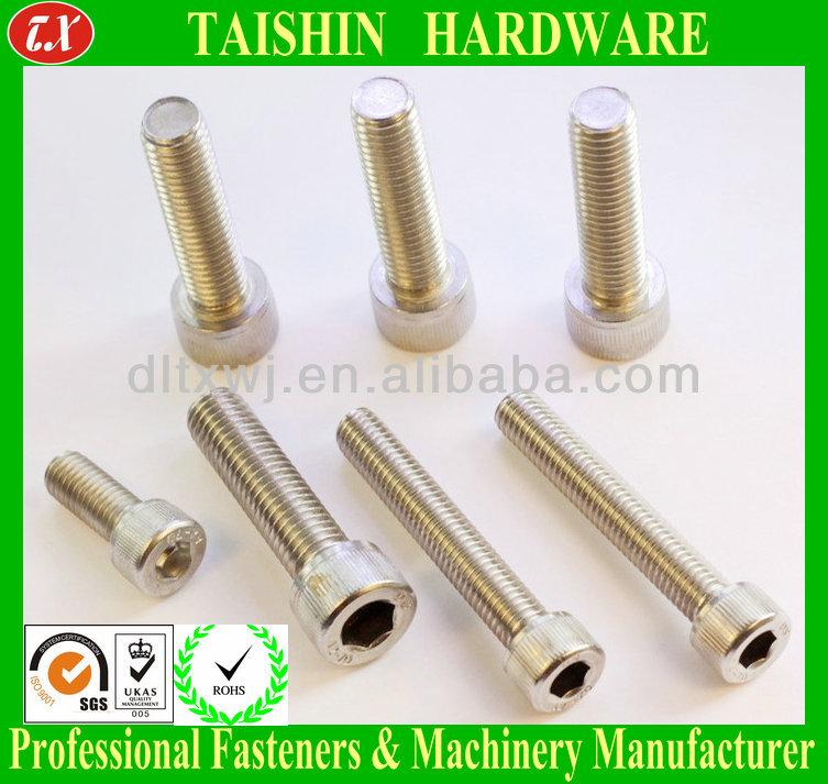 Tornillos hexagonales M8 DIN 912 de acero inoxidable A2-70