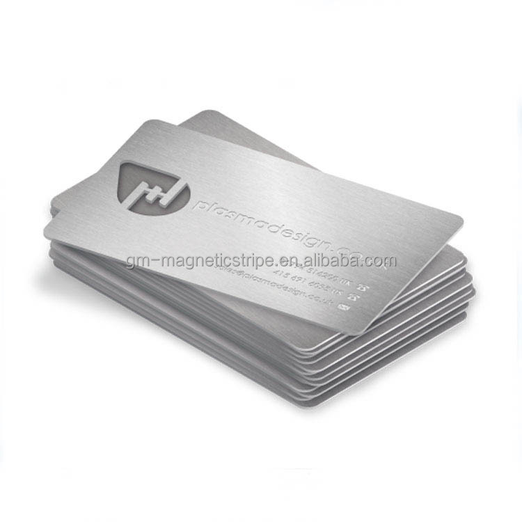 Promotion Gift Engraved Metal Business Cards , stainless steel, VIP card