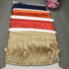 hot selling colorful bullion fringe dance dress polyester chainette fringe