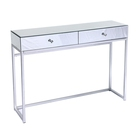 Luxury style Mirrored Furniture Living room Console Table with 2 Drawers