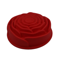 New amazon hot sale rose flower shape food grade silicone cake mold funny cake decoration tools