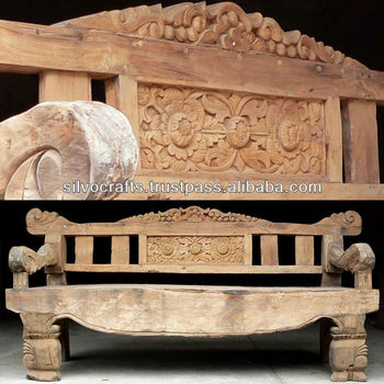 Royal Antique Indian Carved Teak Wooden Furniture From Jodhpur