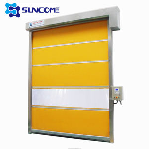 China Industrial Automatic Garage Fabric Fast Speed Plastic Roll Up Door
