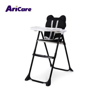 Kid children toddler black portable simple dining eating feeding high chair baby folding chair