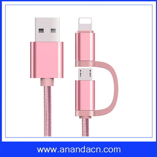 New design cell phone fast charge data cable charging mobile phone/tablet/MP3 devices