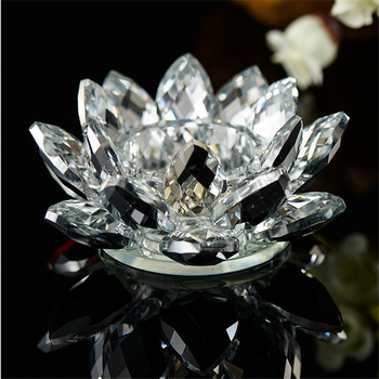 Wholesale crystal glass lotus flower shape candle holdercandelabra wholesale crystal glass lotus flower shape candle holder candelabra for wedding centerpieces mightylinksfo