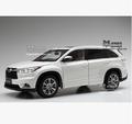 2015 all new Highlander Toyota SUV 1 18 Original simulation alloy car model Japan off road