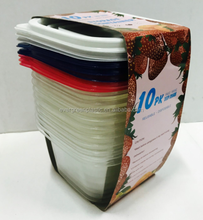 Disposable food storage container large plastic containers lunch box for adults
