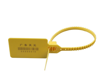 Yellow PVC Cable Tie tag Security Lock Plastic Seal