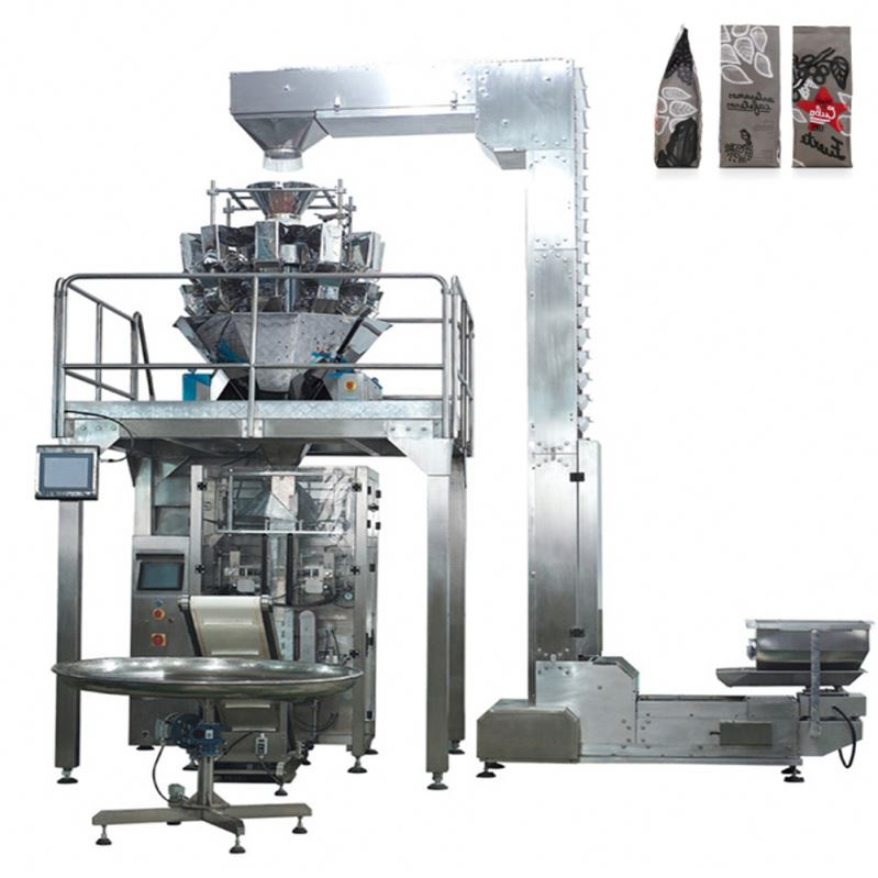 Vertical packing machine multihead weigher for dumplings, meat balls etc frozen food