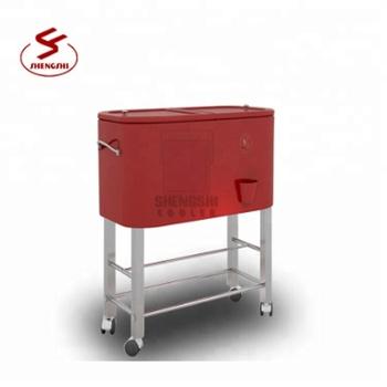 Large Rolling Cooler Budweiser Cart