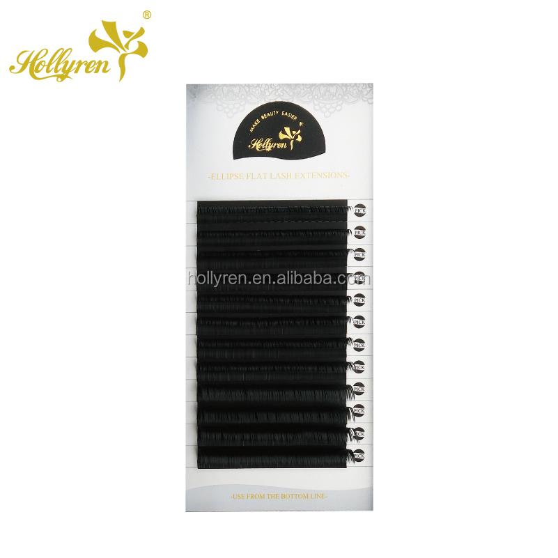 366335e4677 Hand Made High Quality Y shape double Tips Ellipse Flat Eyelash Extension Mink  Lash Tray Plastic