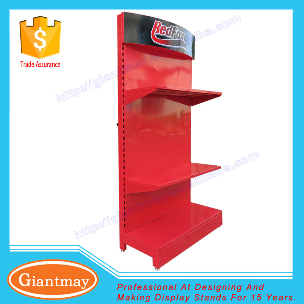 Retail store metal peg board profile hardware tools display stand with hook