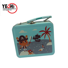 Gifts Use and Aseptic Feature rectangle shape tin lunch box with latch