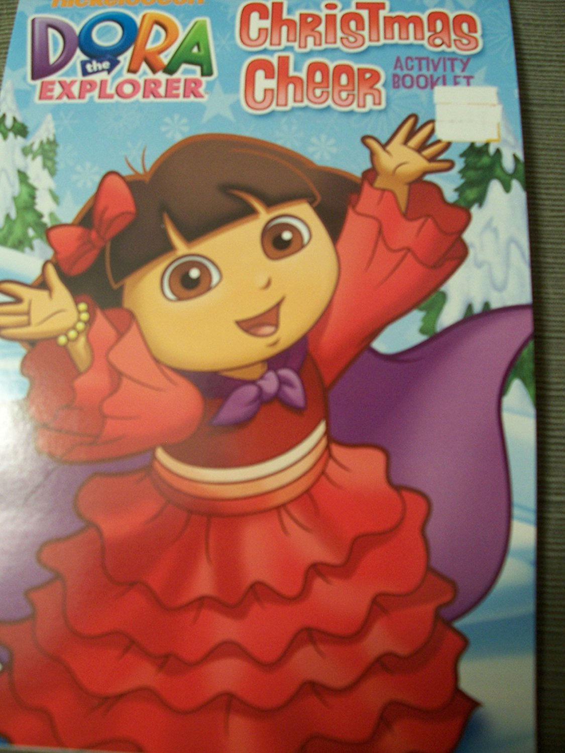 Dora The Explorer Coloring Activity Pad Christmas Booklet Cheer
