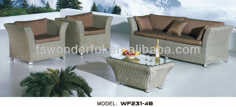 WF231-48 wicker sofa,garden furniture,garden rattan sofa