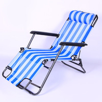 Outdoor Folding and Reclining Deck Chair for Lounge Patio Beach