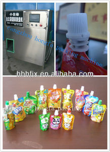 Stand-up plastic bag/pouch/sachet/valve bag alcohol juice filling and capping packaging machine