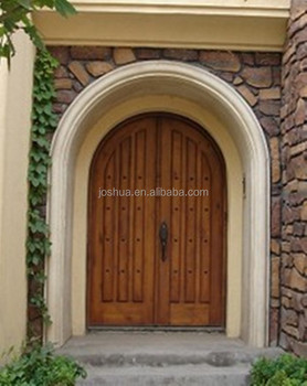 Exterior Solid Wood Arch Double Door Buy Lowes Exterior
