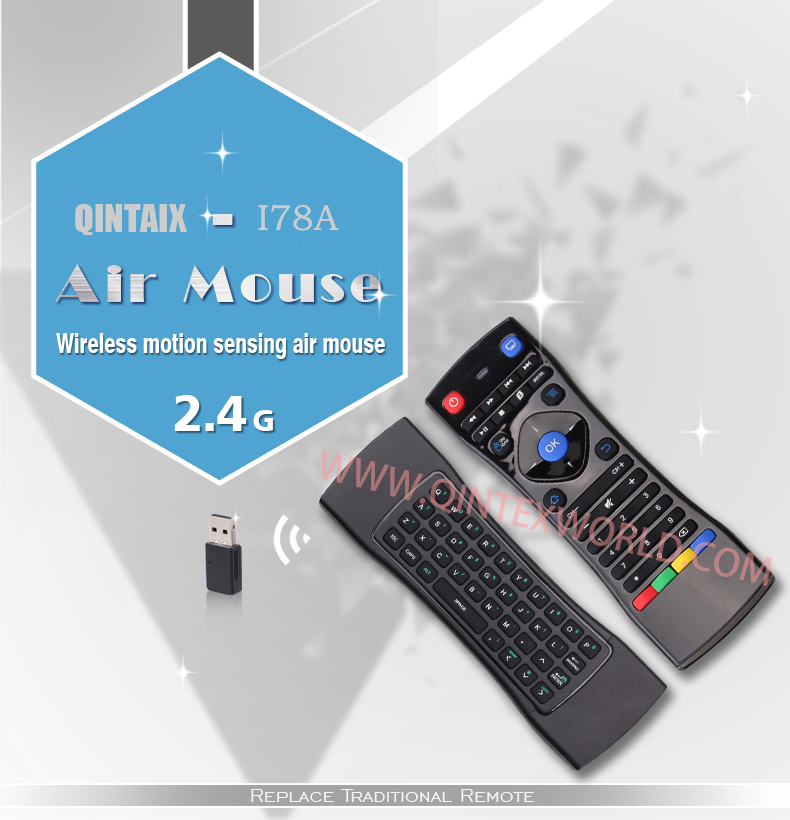 Hot 2.4G Remote Control I78A Air Mouse Wireless Keyboard for  Android Mini PC TV Box