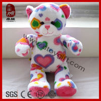 Stuffed soft teddy bear Valentine colorful teddy bear