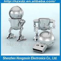 Wholesale new metal robot usb flash drive 1GB TO 64GB human-like USB 2.0 FLASH DRIVE