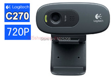 100% Logitech C270 HD Vid 720P Webcam With MIC Micphone Video Calling For Android TV
