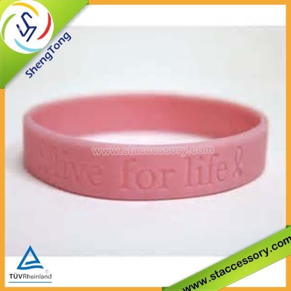 Bracelet breast cancer rubber