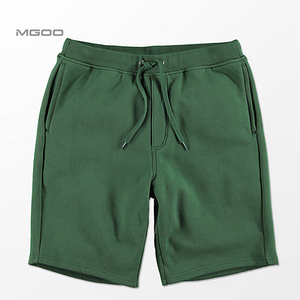 MGOO Fleece Athletic Shorts Ribbed Elastic Waistband Sweat Shorts Custom Logo Embroidery Soft Mid Weight Outlet Shorts