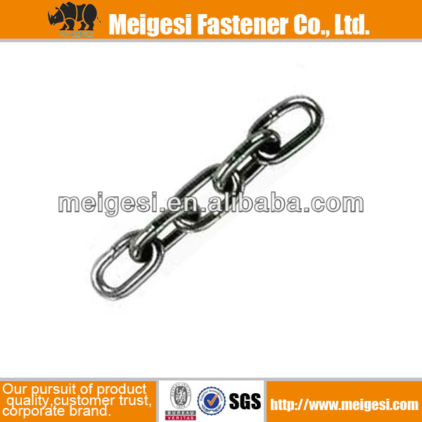 DIN763 Long link chain carbon steel zinc plated galvanized China manufacturer high quality good price