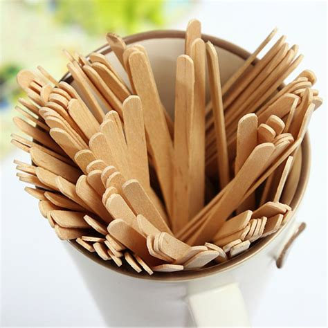 Bio-degradable disposable high quality wooden coffee stirrer
